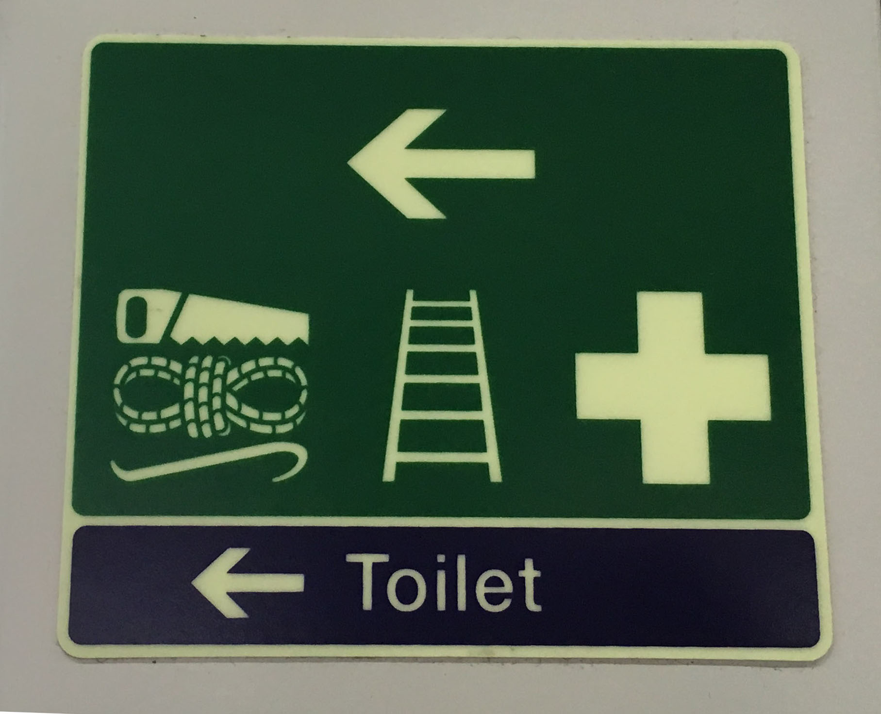 Colonel Mustard killed the first aid worker with the saw, rope, and crowbar in the train toilet (Heathrow Express, London)